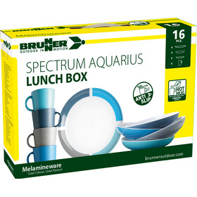Brunner Lunch Box Set de platos, Design Aquarius